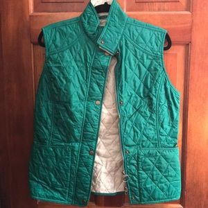 Barbour Liddesdale green quilted vest